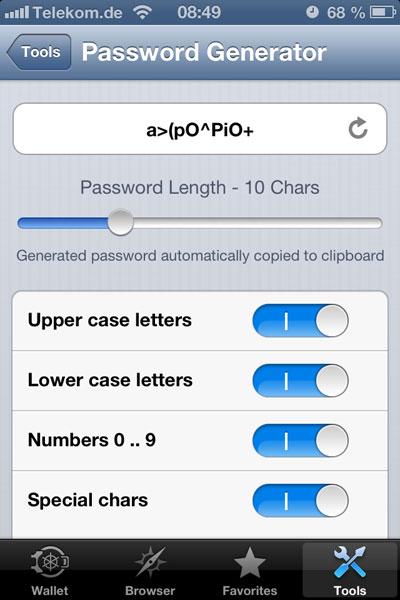 SBSH SafeWallet für iOS