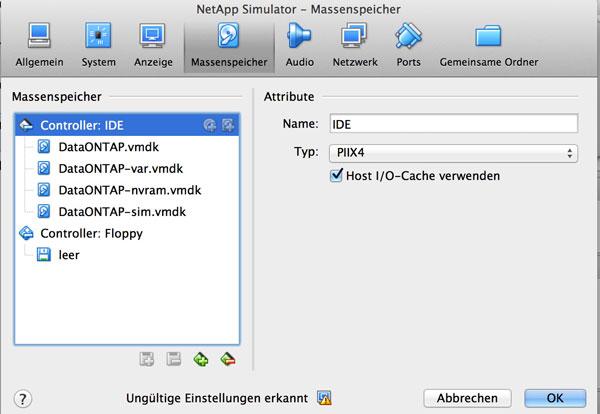 ONTAP auf Virtualbox