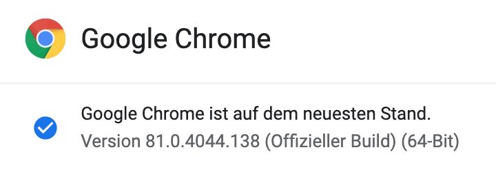 Chrome Update 81.0.4044.138