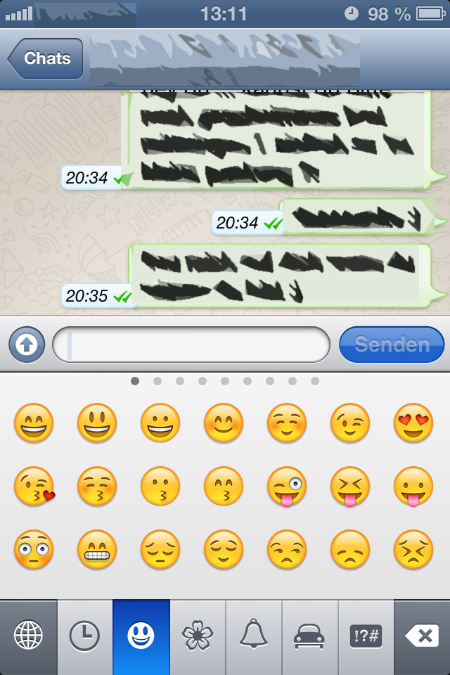 Emoticons iPhone