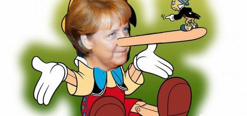 Merkel Lügnerin